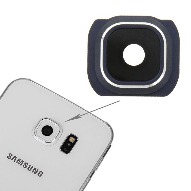 samsung galaxy s6 edge ersatzteil r ckseite backcover kamera frame linse schwarz ip klinik. Black Bedroom Furniture Sets. Home Design Ideas