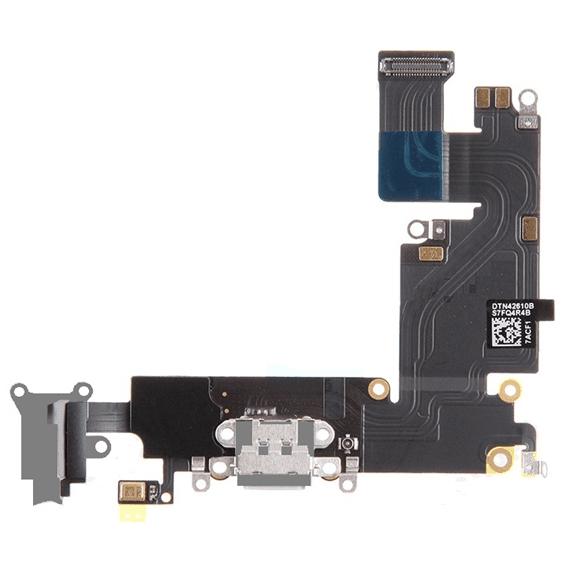 iPhone 6S Plus IP Klinik DeLueckS Ersatz Audio Flex Lightning Dock Connector Grau