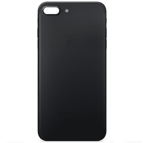 iPhone 7 Plus Ersatz Backcover Rrückseite Rahmen Schwarz matt